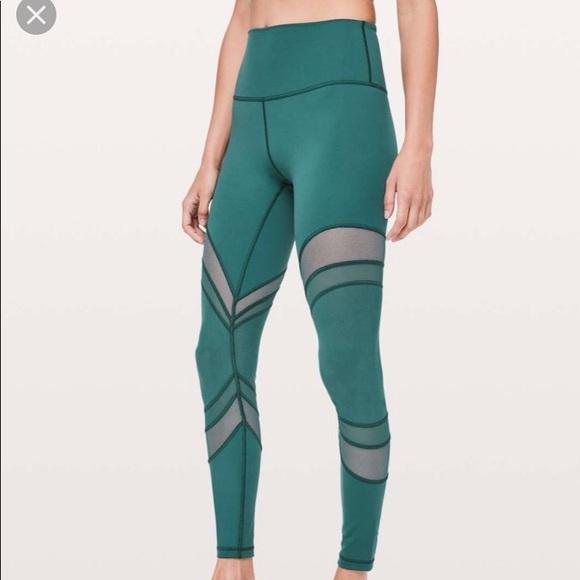 7f4f1a0833 lululemon athletica Pants | Lululemon Seek The Heat Color Green ...